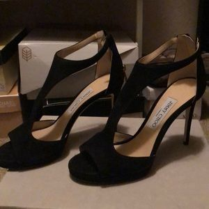 Jimmy Choo suede black pumps size 8